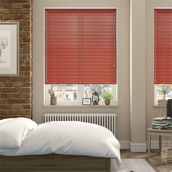 Red Color Venetian Blinds