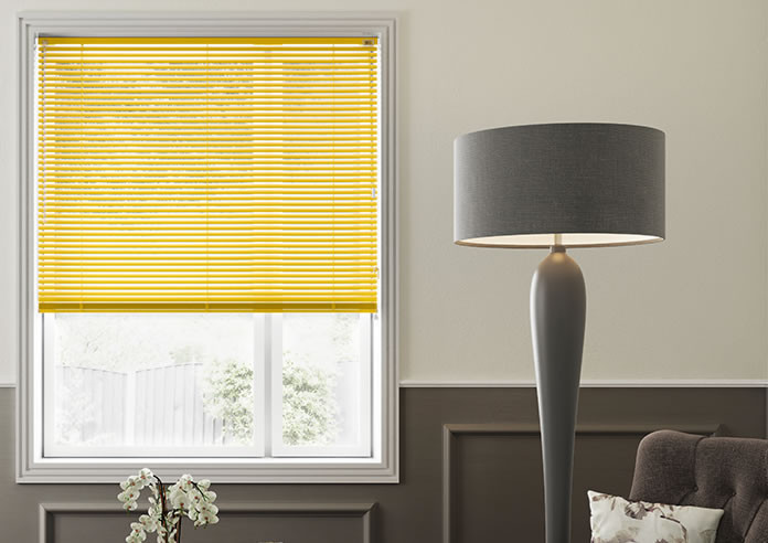 Horizontal blinds - Yellow color Blinds